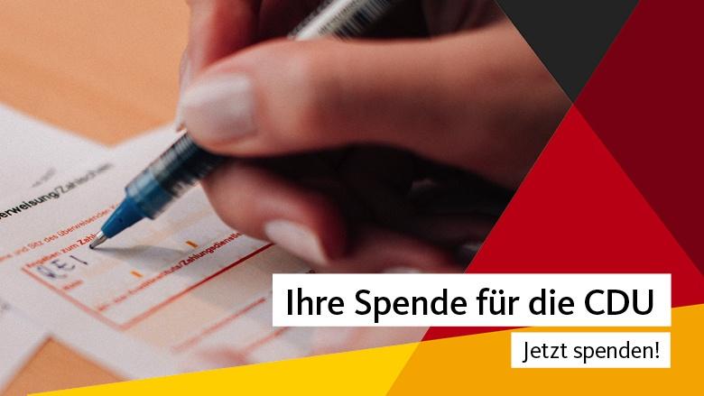Foto: Ihre Spende für die CDU, Copyright: CDU Deutschlands